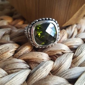 Premier Designs Green and Silver Chunky Ring